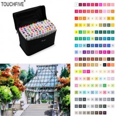 TouchFive Markers 168 Full Colors Art Sketch Graphic Alcohol Based Pen Set