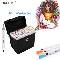 Touch Five Marker 60 Pen Animation Design Colors Set