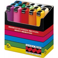 Uni-POSCA PC-8K Paint Marker Pen Bold Point Set of 15