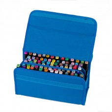 80 Holders Marker Pen Case, Extendable and Foldable Velcro Oxford Organizer with Carrying Handle
