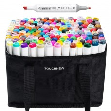 TOUCHNEW 168 Colors Alcohol Graphic Drawing Painting Art Dual Tip Sketch Pen Twin Tip Marker Set